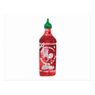 sequin hot sauce postcard