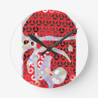 sequin hot sauce round clock