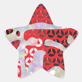 sequin hot sauce star sticker