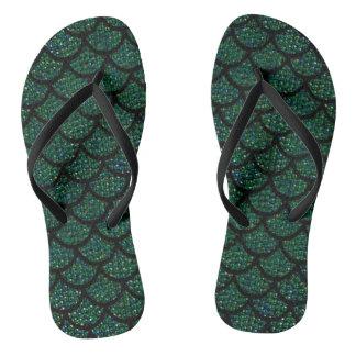 sequin mermaid flip flops sandals shoes