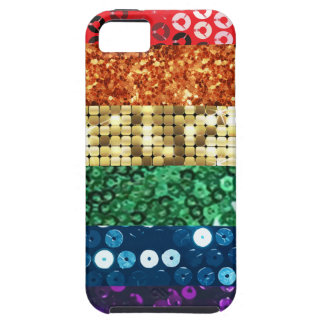 sequin pride flag iPhone 5 cover