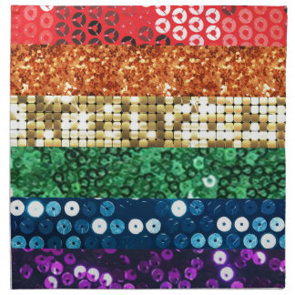 sequin pride flag napkin