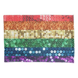 sequin pride flag pillowcase pillow case