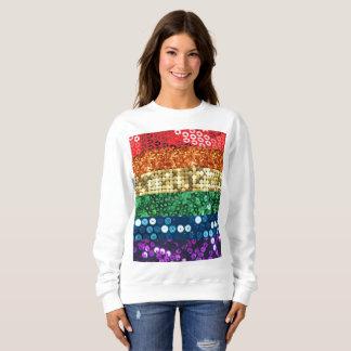 sequin pride flag womens sweatshirt