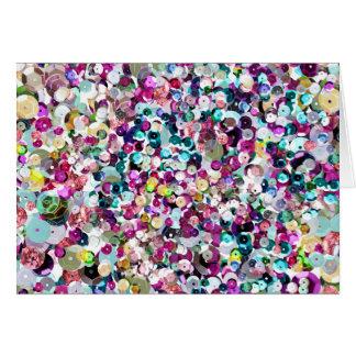 Sequin Sparkles Rainbow Card
