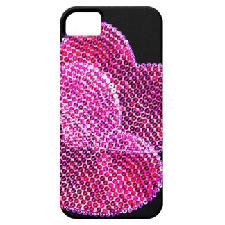 Sequined hearts design iphone 5 case