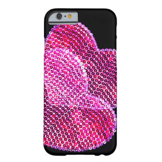 Sequined hearts design iPhone 6 case