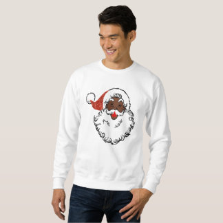 sequins black santa claus mens sweatshirt