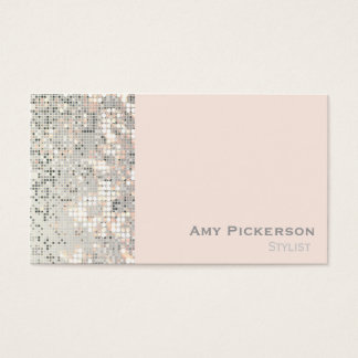 Sequins Blush Pink Glitzy Glam Business Card