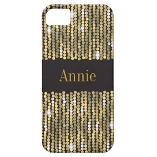 Sequins Gold iPhone SE/5/5S Barely There Case