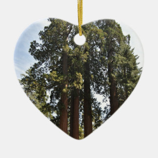 Sequioa National Park Ceramic Heart Ornament