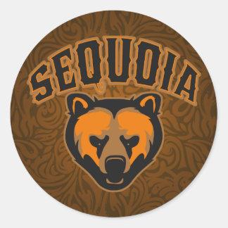 Sequoia Bear Face Logo Round Sticker