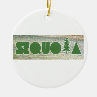 Sequoia Ceramic Ornament