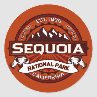 Sequoia Crimson Round Sticker