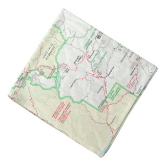 Sequoia/Kings Canyon map bandana