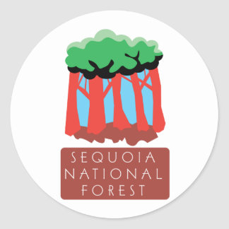Sequoia National Forest Classic Round Sticker