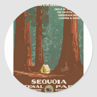 Sequoia National Park Classic Round Sticker