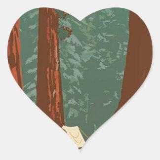 Sequoia National Park Heart Sticker