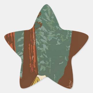 Sequoia National Park Star Sticker