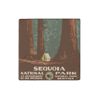 Sequoia National Park Stone Magnets