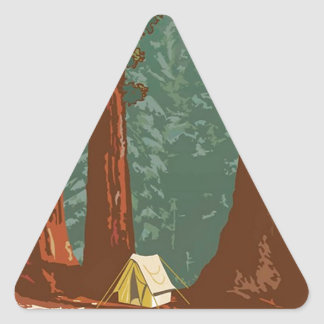 Sequoia National Park Triangle Sticker