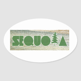 Sequoia Oval Sticker