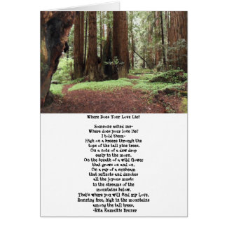Sequoia Trees Poem Blank Card