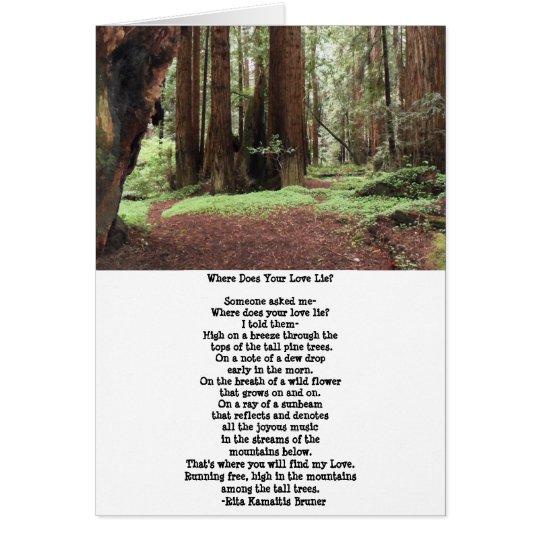 Sequoia Trees Poem Blank Card
