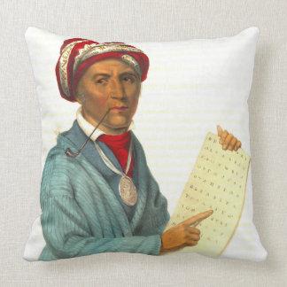 Sequoyah 1838 throw pillow