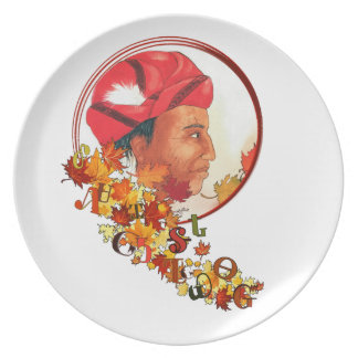 "Sequoyah & the Cherokee Syllabary ""Talking Leaves"" Plate"
