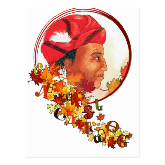 "Sequoyah & the Cherokee Syllabary ""Talking Leaves"" Postcard"