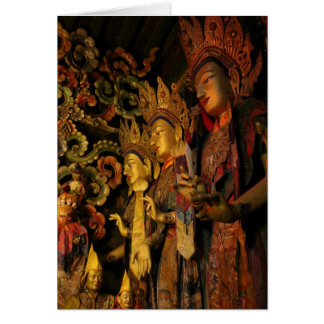 Sera Monastery Buddhist Statues 2 Greeting Card