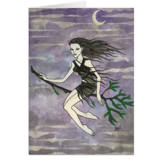 """Serafina"" Witch Card"