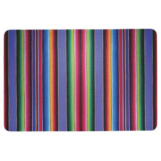 Serape Stripe Print Lavender Floor Mat