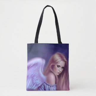 Seraphina Guardian Angel All Over Print Tote Bag