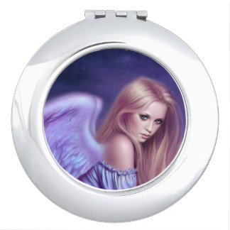 Seraphina Guardian Angel Art Round Compact Mirror