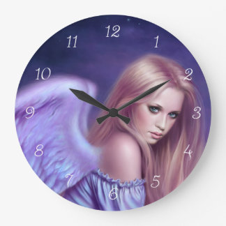 Seraphina Guardian Angel Art Wall Clock
