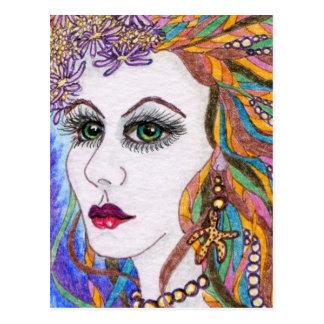 Seraphina, Mermaid Portrait Goddess Postcard