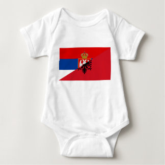 serbia albania flag country half symbol baby bodysuit