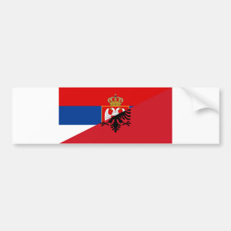 serbia albania flag country half symbol bumper sticker