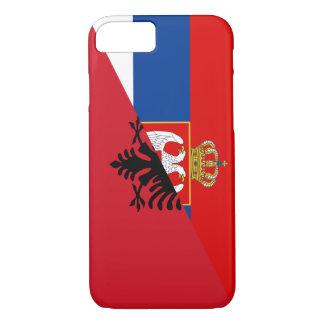 serbia albania flag country half symbol iPhone 8/7 case
