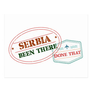 Serbia Been There Done That Postcard