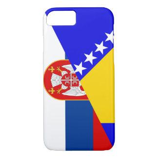 serbia bosnia Herzegovina flag country half symbol iPhone 8/7 Case
