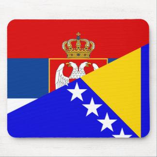 serbia bosnia Herzegovina flag country half symbol Mouse Pad