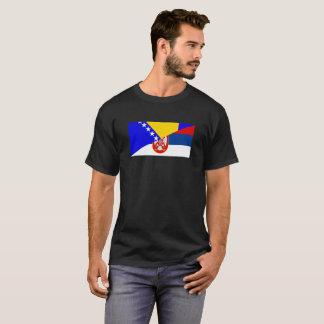 serbia bosnia Herzegovina flag country half symbol T-Shirt