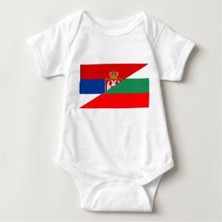 serbia bulgaria flag country half symbol baby bodysuit