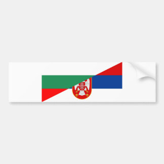 serbia bulgaria flag country half symbol bumper sticker