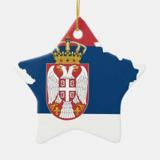serbia ceramic star ornament