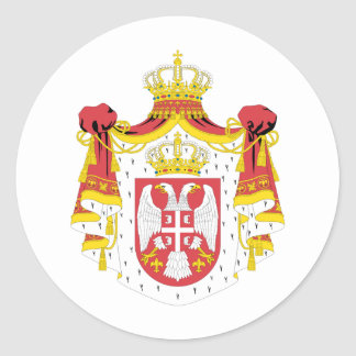 Serbia coat of arms classic round sticker