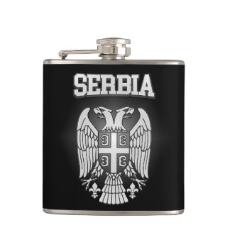 Serbia Coat of Arms Hip Flask